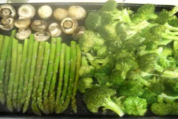 Asparagus, Broccoli and Mushrooms