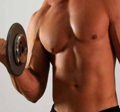 man doing dumbbell exercise