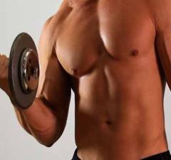 man doing dumbbell exercise