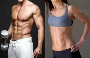 male & female fintness models